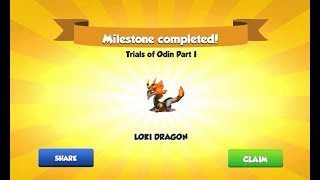 [Trials of Odin] Clear lvl 6 - Get Loki Dragon with 24000 points - Dragon Mania Legends