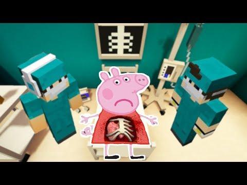 PEPPA PIG PART A L'HÔPITAL SUR MINECRAFT !! 😷🏥