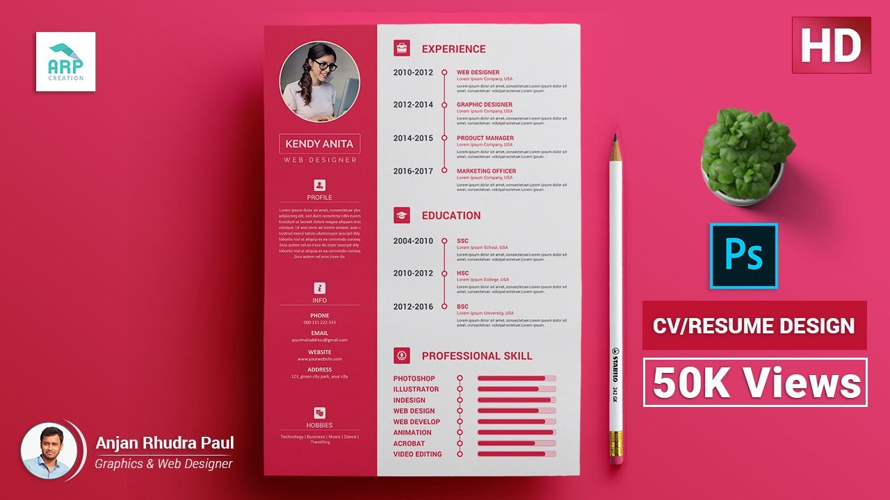 How To Create A Cv Resume Template In Photoshop Photoshop