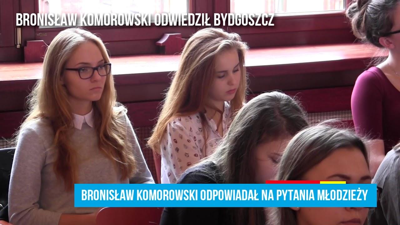 Bronisław Komorowski odwiedził Bydgoszcz