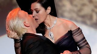 Страстный поцелуй Моники Беллуччи на открытии Каннского фестиваля 2017