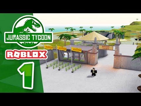 BUILDING A DINOSAUR PARK - Roblox Jurassic Tycoon #1