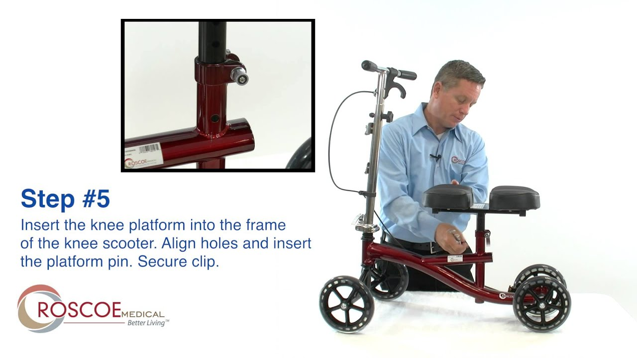 Roscoe Medical Knee Scooter Assembly Youtube