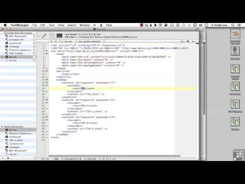 Creating EBooks Tutorial | Modifying The EPub Table Of Contents
