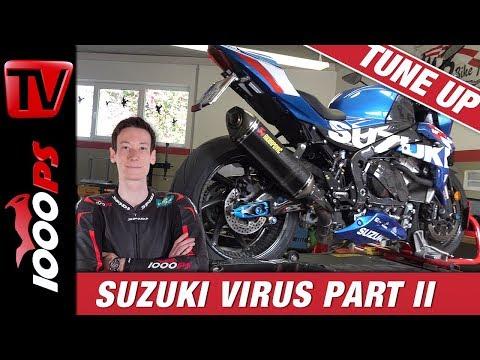 Suzuki GSX-R 1000 Nakedbike Test || Virus TuneUp Teil 2 || Auspuff, Fahrwerk, Bremse, Räder, Optik