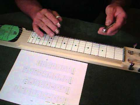 "Amazing Grace Lap Steel Lesson Open ""E"" Tuning"