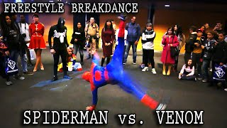 Spiderman vs. Venom, INSANE Freestyle Breakdance Battle at Retrocon 2016, Rotterdam