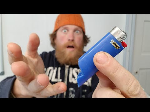 How To Start A  Fire With A Broken BIC Lighter Hack