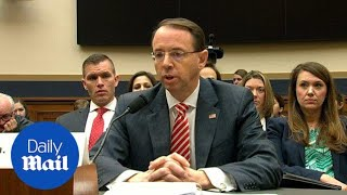 Deputy AG Rod Rosenstein defends Mueller investigation - Daily Mail
