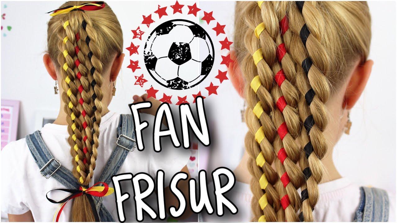 Deutschland Wm Fan Frisur Zur Em 4 Strähnenzopf Coole Mädchen
