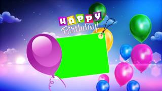 Happy Birthday Wishes With Green Background Video