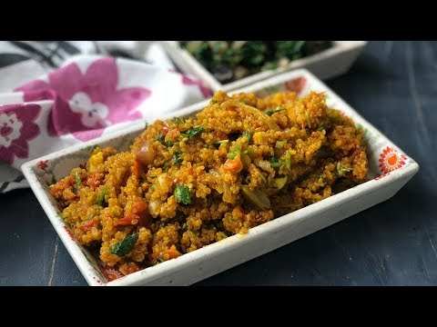 Tomato Quinoa And Mushroom Spinach Stir Fry - Healthy Recipe By Archana's Kitchen