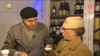 Meneer en Mevrouw de Bok - Wijn proeven.