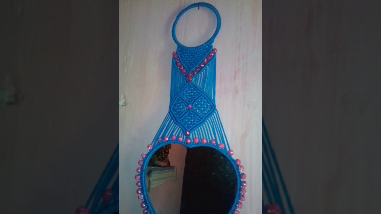 Macrame mirror wall hanging youtube macrame mirror wall hanging amipublicfo Images