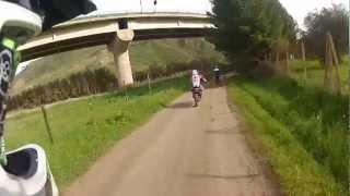 Enduro crash kawasaki kx 125 GOPRO HD