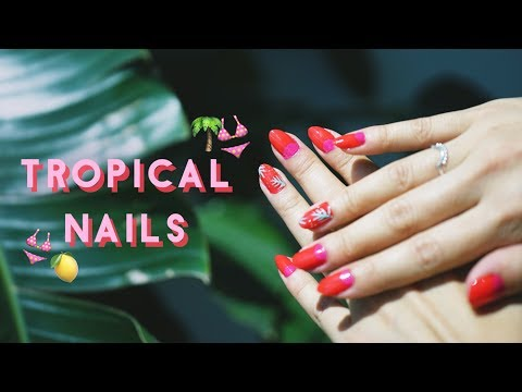 ✂ Tropical Summer Nail Tutorial