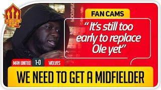 SOLSKJAER IN FOR NOW! Manchester United 1-0 Wolves FanCam