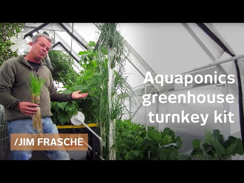 Loan-qualifying aquaponics greenhouse kit for income, family