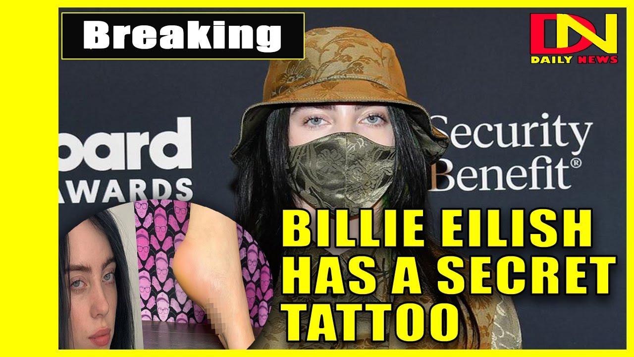 Billie Eilish gets first tattoo