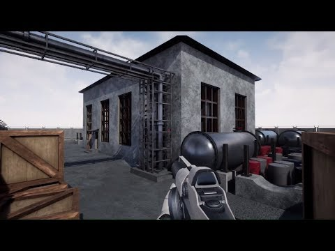 """Unreal Engine 4 - Сцена """"Цех по переработке химии"""""""