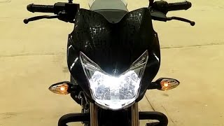 Como poner luces de parqueo sin gastar mucho dinero para moto discover 125 o 150st facil