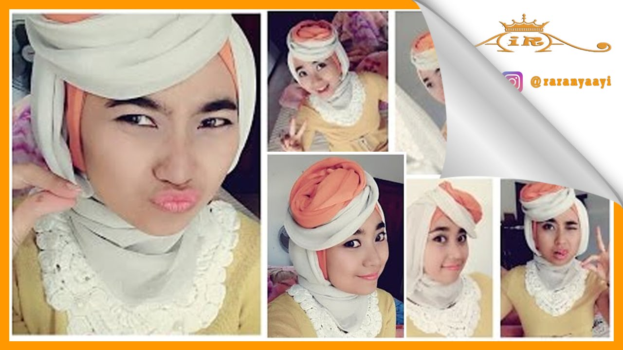 Tutorial Hijab Paris Segi Empat Dua Warna Simple By Rara YouTube