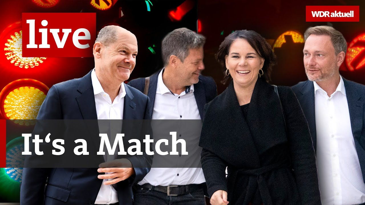 Ampel-Sondierung vorbei: SPD, Grüne & FDP wollen Koalitionsverhandlungen   Live aus dem WDR Newsroom
