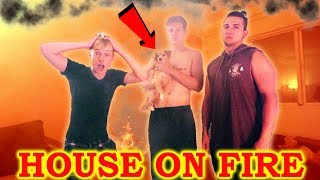 HOUSE ON FIRE PRANK GONE WRONG | (LOST PUPPY)