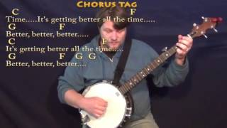 Getting Better (The Beatles) Banjo Cover Lesson with Chords/Lyrics