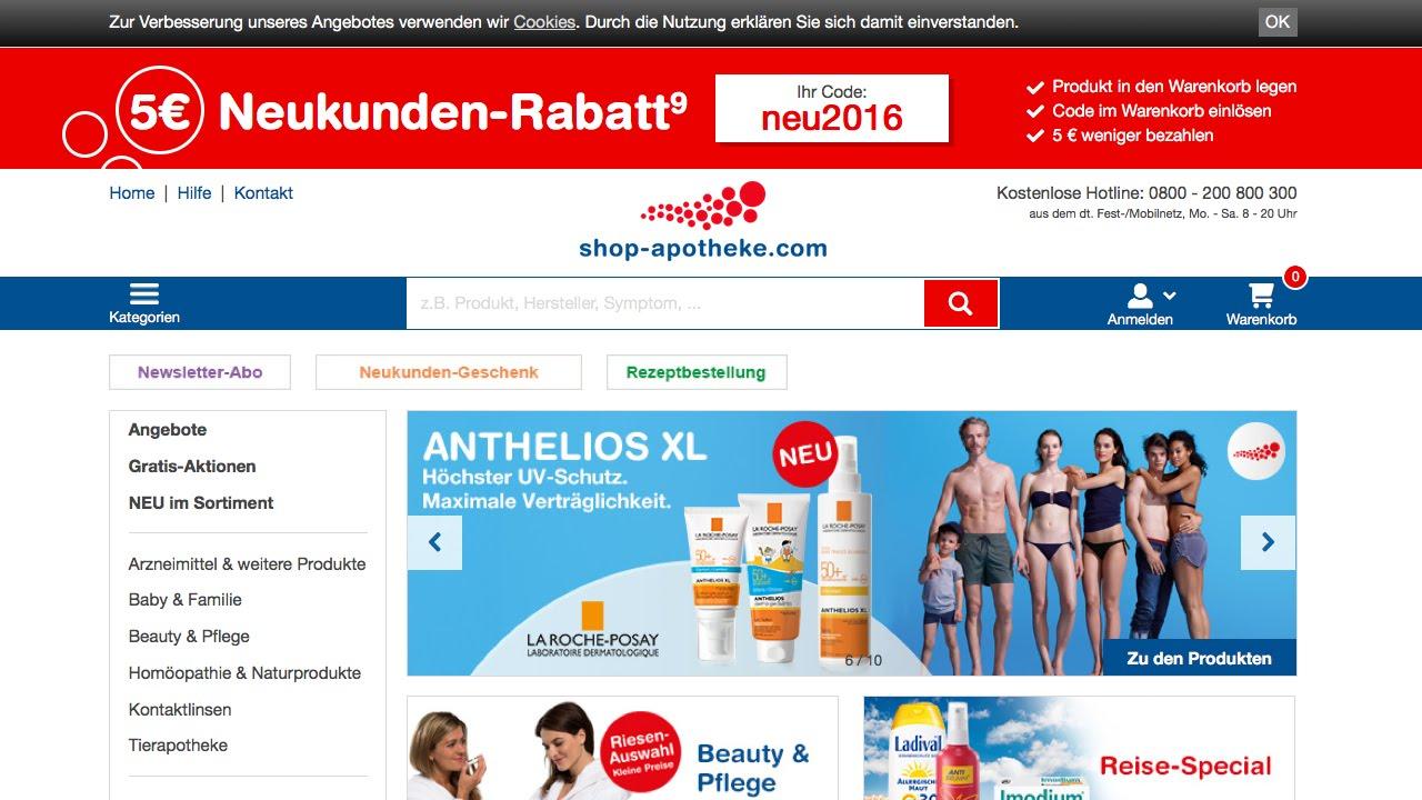 shop-apotheke Gutschein einlösen auf Gutscheine.de - YouTube