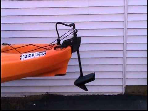 Bassyaks Kayak Trolling Motor Lift Youtube