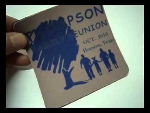Family Reunion Gifts - 4pc Round Coaster Set