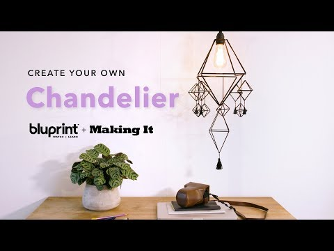DIY Chandelier Made of Straws