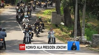 Begini Gaya Presiden Jokowi Pimpin Bikers ke Pelabuhan Ratu