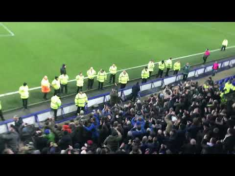 Manchester City Fans Taking Over Goodison Park