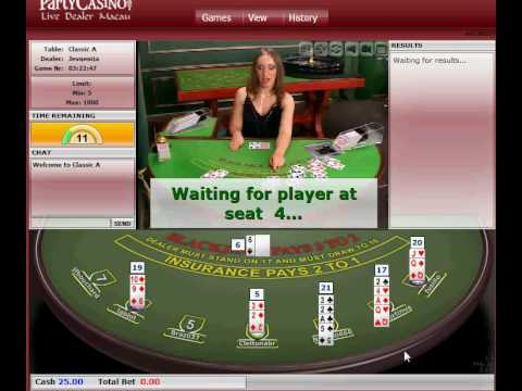Livedealer.org   Macau live dealer blackjack at Party Casino