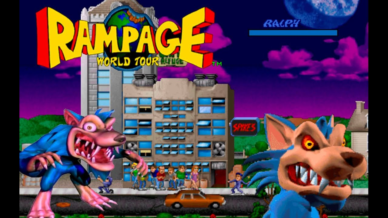 Rampage World Tour Alberto Blaze Walkthrough Ralph The Blue