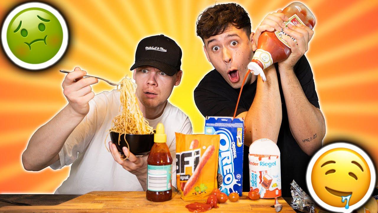 Wir probieren eure ekligsten Essens-Kombinationen ???? TEIL 4