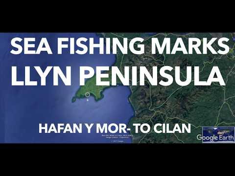 Pt 1 Sea Fishing Marks Llyn Peninsula South Coast-Google Earth