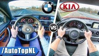 Kia Stinger GT vs BMW 440i xDrive   0-250km/h ACCELERATION TOP SPEED POV & SOUND by AutoTopNL