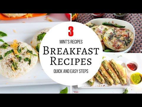 3 Quick & Easy Breakfast Recipes | Evening Snacks Recipes