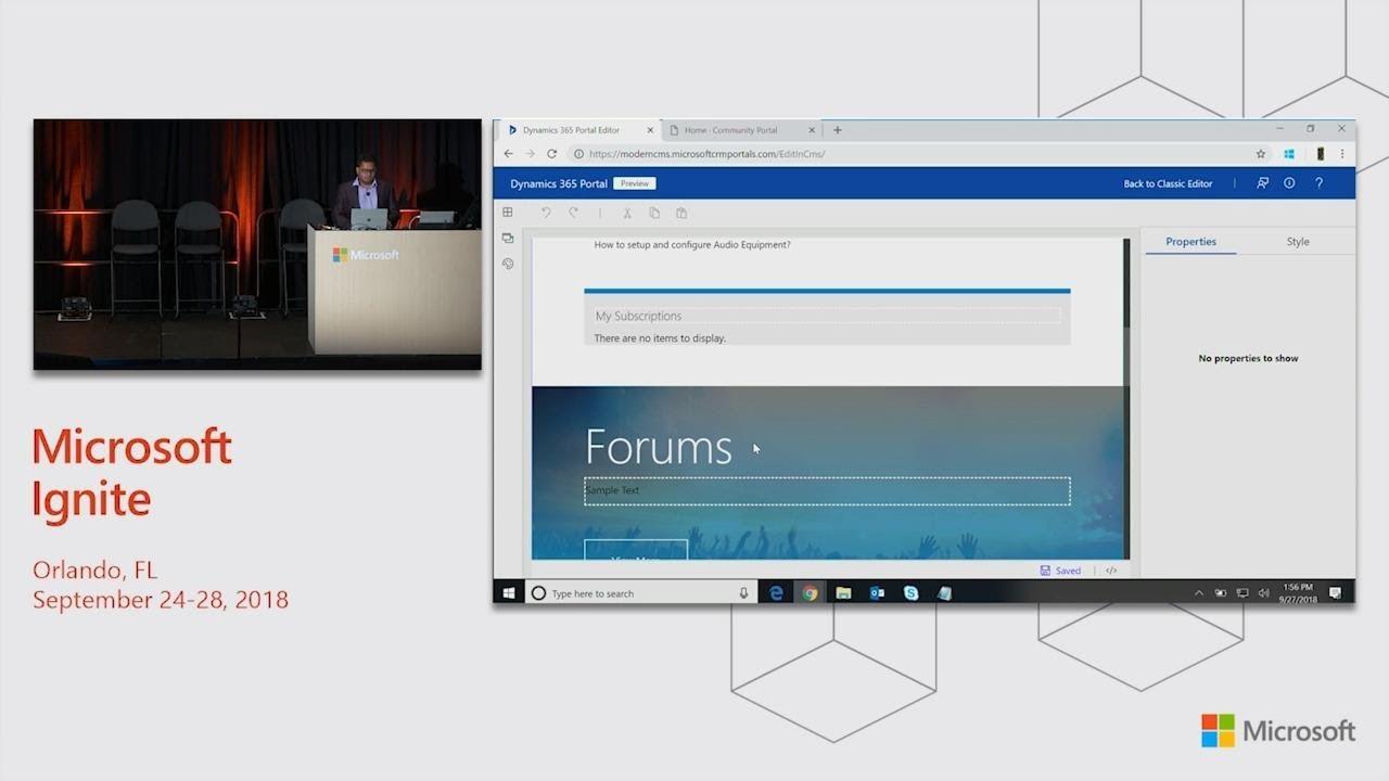 Microsoft Dynamics 365 for Customer Service: Dynamics 365 Portal - New  capabilities - BRK2151