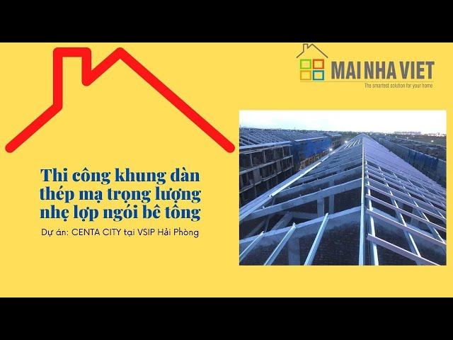 Mái Nhà Việt thi công mái ngói dự án nhà phố thương mại biệt thự liền kề CENTA CITY VSIP HẢI PHÒNG