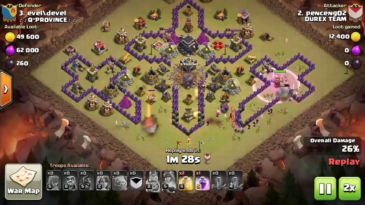 Base Coc Th 9 Unik 8