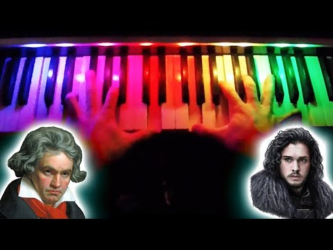 fur elise but its actually game of thrones (on a rainbow piano)