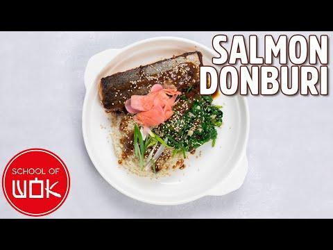 Super Tasty Salmon Donburi Recipe!   Wok Wednesdays
