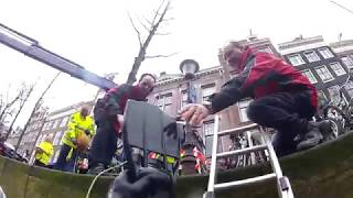 Auto te water Leidsegracht - Duikteam Brandweer Amsterdam