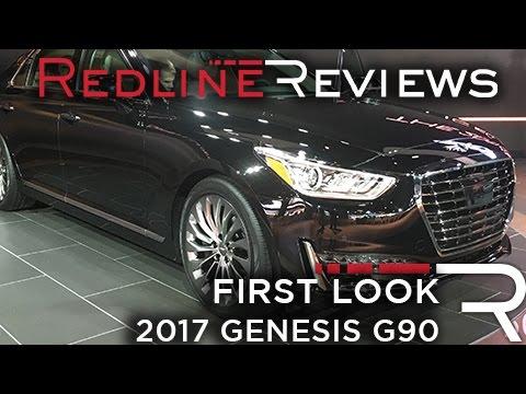 2017 Genesis G90 Redline First Look 2016 Detroit Auto Show