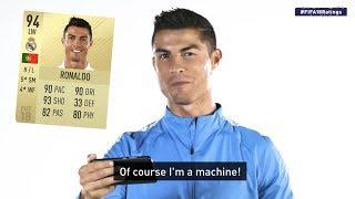 Cristiano Ronaldo reagiert auf FIFA 18 Werte!