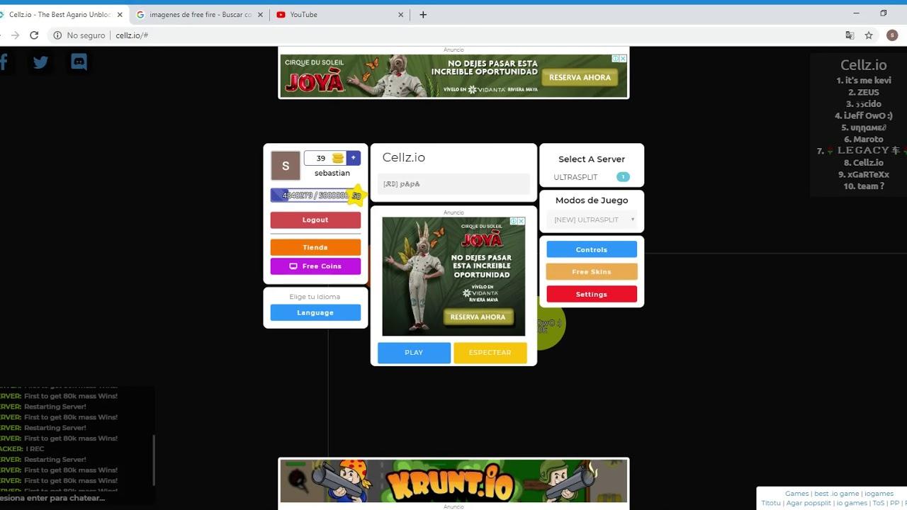Cellz Io The Best Agario Unblocked Io Private Server Google Chrome